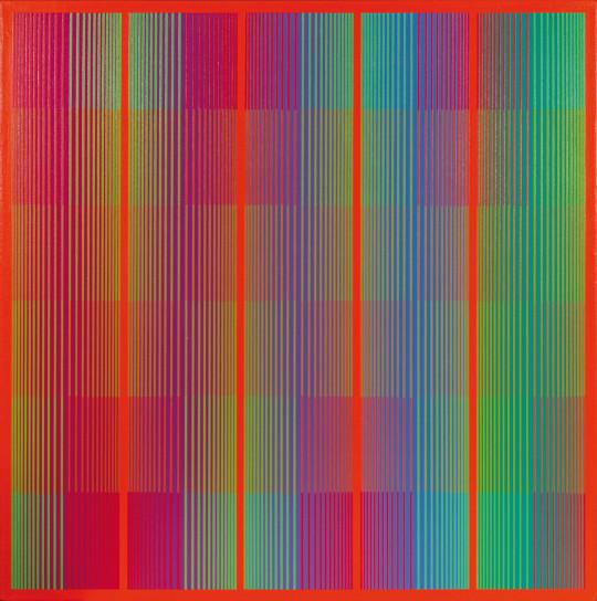 Richard Anuszkiewicz  Spectral with red