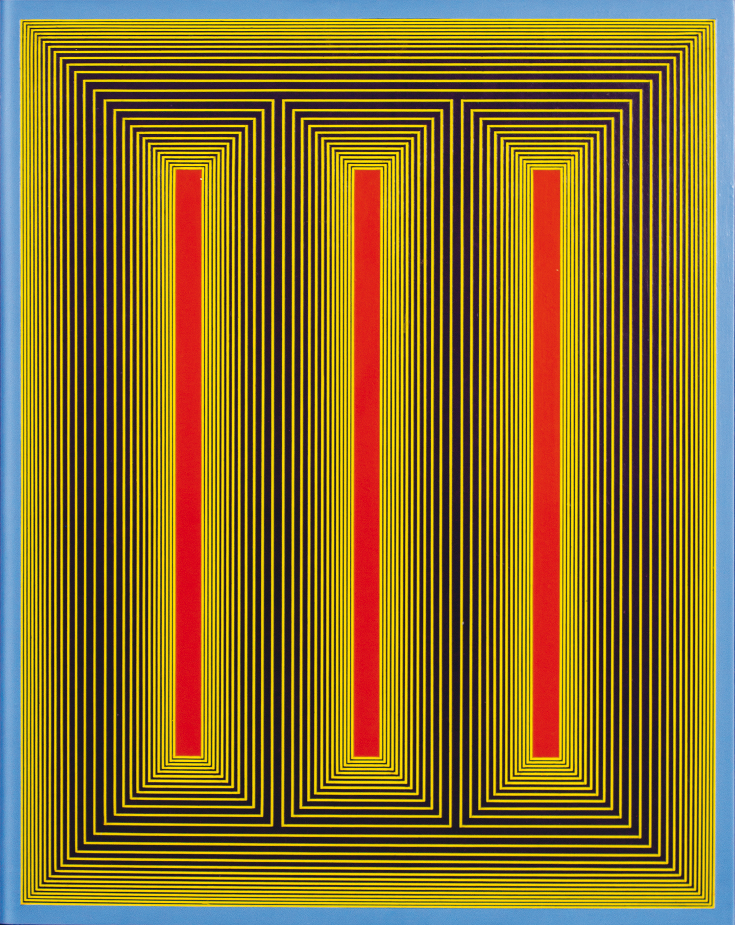 20_Richard Anuszkiewicz 1983 66x51 Temple or red, yellow and blue