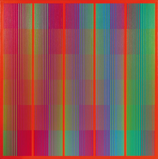 Richard Anuszkiewicz  Spectral with red
