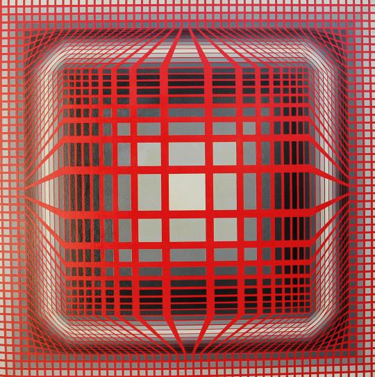 Victor Vasarely – Olio su tela